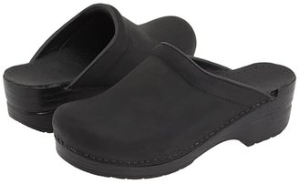 Dansko Sonja (Black Oiled) Women's Clog Shoes