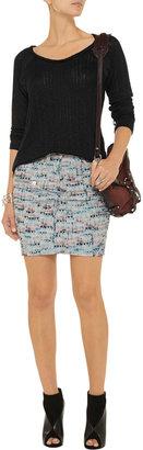 LnA Ashlyn pointelle-knit cotton-blend sweater