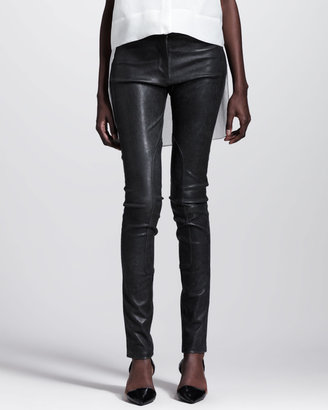 Alexander Wang Distressed Leather Skinny Pants