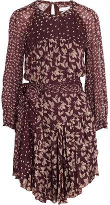 Etoile Isabel Marant Prewitt leaf-print georgette dress