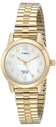 Timex - Classic Gold-Tone Expansion Band Watch Watches $62 thestylecure.com