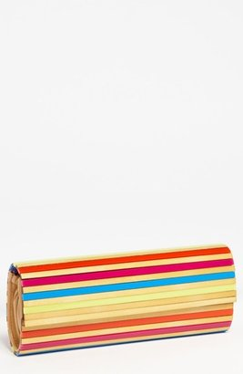 Sondra Roberts Faux Wood Box Clutch