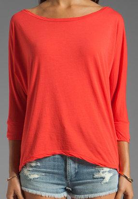 Velvet Sheer Jersey Carden Top
