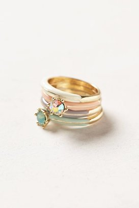 Anthropologie Radiance Stacking Rings