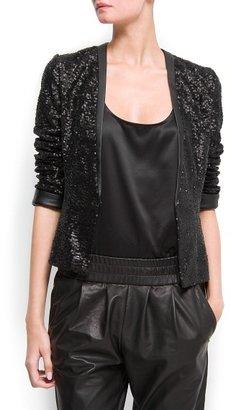 MANGO Sequins jacket