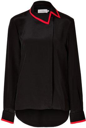 FRIDA Preen by Thornton Bregazzi Silk Blouse in Black/Red