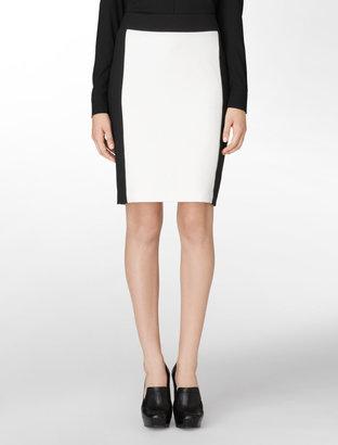Calvin Klein Color-Blocked Pencil Skirt
