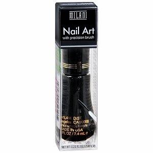 Milani Nail Art Nail Lacquer, Black Sketch 703