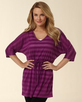 Soma Intimates Deep V-Neck Orchid Bloom Burnout Tunic