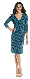 Evan Picone EvanPicone Evan-Picone Ivp Side Tie Print Matte Jersey Dress