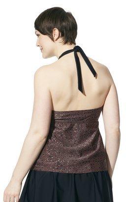 Merona Women's Plus-Size Halter Tankini Swim Top - Brown/Black