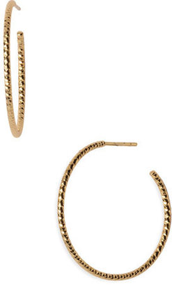 Women's Argento Vivo Textured Hoop Earrings $48 thestylecure.com