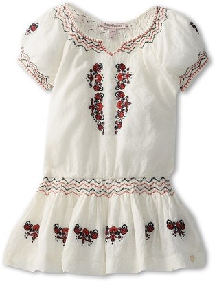 Juicy Couture Bohemian Embroidered Woven Dress (Toddler/Little Kids/Big Kids) (Angel) - Apparel