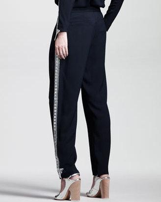 Chloé Embroidered Light Cady Pants