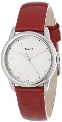 Timex Women's T2P0852M Red Patent Leather Strap Watch $34.99 thestylecure.com