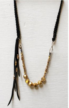 marisa haskell Kanan Leather Braid Necklace