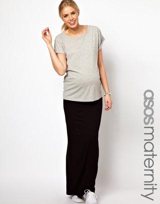 Asos Exclusive Maxi Skirt With Foldover Waistband