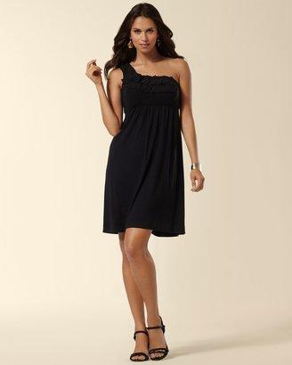 Soma Intimates One Shoulder Chiffon Applique Dress