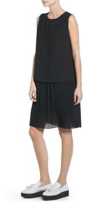 MANGO Outlet Contrast Bodice Dress