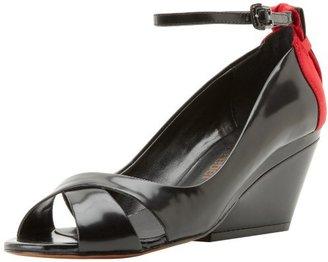 Luxury Rebel Women's Cutie Demi Wedge Sandal,Black,38.5 EU/8.5 M US
