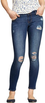 Old Navy Women's The Rockstar Distressed Super-Skinny Jeans