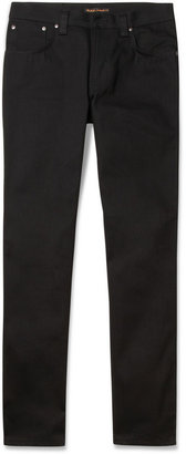 Nudie Jeans Slim Jim Straight-Leg Organic Dry Denim Jeans