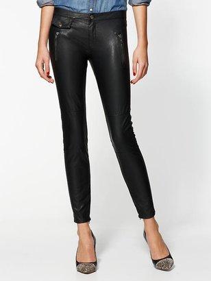 Blank Vegan Leather Moto Skinny Pants