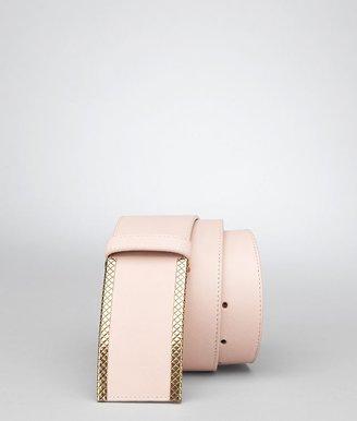 Bottega Veneta Petale waxed leather metal belt