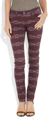 See by Chloe Detroit printed mid-rise skinny jeans