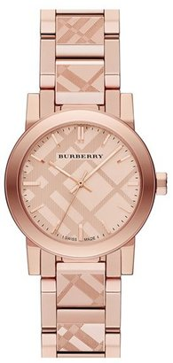 Burberry Check Stamped Bracelet Watch, 26mm $795 thestylecure.com