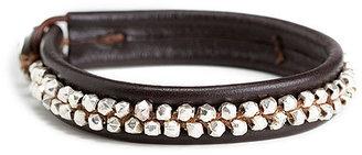 Chan Luu Double Studded Leather Bracelet