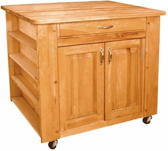 Catskill Craft Deep Storage Medium Island Kitchen Cart