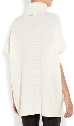 MICHAEL Michael Kors Ribbed merino wool and cashmere-blend poncho