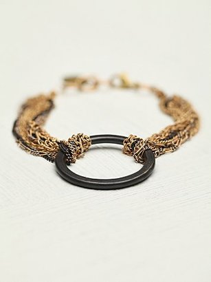 Free People Cecilia Gonzales Chained Geo Bracelet