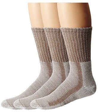 Thorlos Light Hiker Crew 3-Pair Pack (Walnut/Heather) Men's Crew Cut Socks Shoes