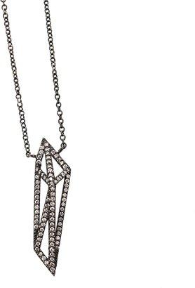 MONIQUE PEAN Geometric Signature Diamond Open Cage Necklace