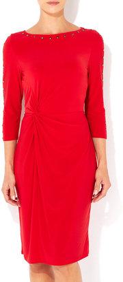 Wallis Red Studded Sleeve Dress