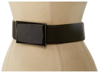 """Vince Camuto 2"""" Synthetic Leather Belt With Stretch And Stone Buckle 4 5 1 Review"""