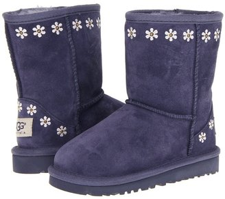 UGG Classic Embroidery (Toddler/Little Kid) (Night Suede) - Footwear