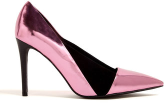 See by Chloe Shoes Nubie Pink Metallic Panelled High Siletto Shoe