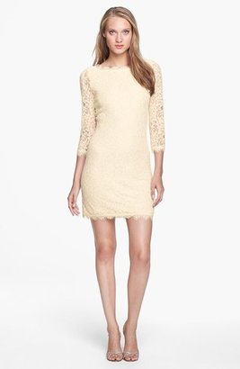 Women's Diane Von Furstenberg 'Zarita' Lace Sheath Dress $348 thestylecure.com