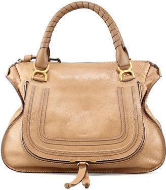 Chloé Marcie Large Leather Satchel Bag, Nut