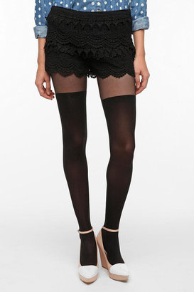 Urban Outfitters Pins And Needles Lace Tap Short