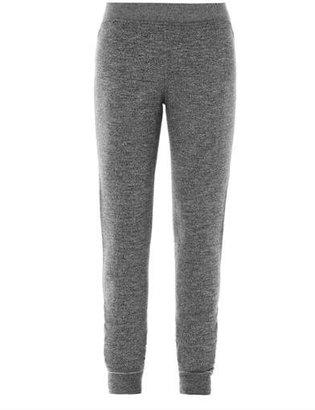 Alexander Wang Fleece cotton-jersey sweatpants