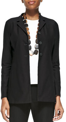 Eileen Fisher Washable-Crepe Long Jacket $218 thestylecure.com