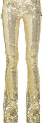 Balmain Sequin-embellished flared pants