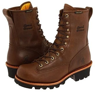 Chippewa 8 Bay Apache Waterproof Lace-to-Toe Logger (Brown) Men's Work Boots