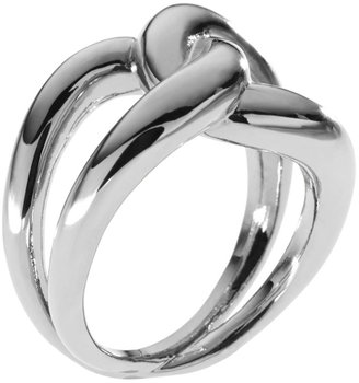Michael Kors Love Knot Ring, Silver Color