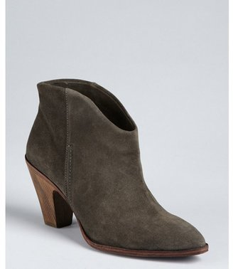 Belle by Sigerson Morrison dark grey suede 'Lamar' booties