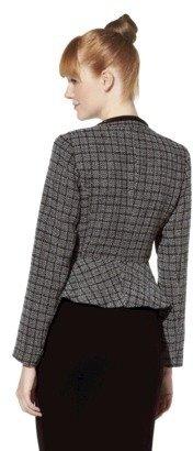 Mossimo Womens Boucle Blazer w/ Chain Detail - Black